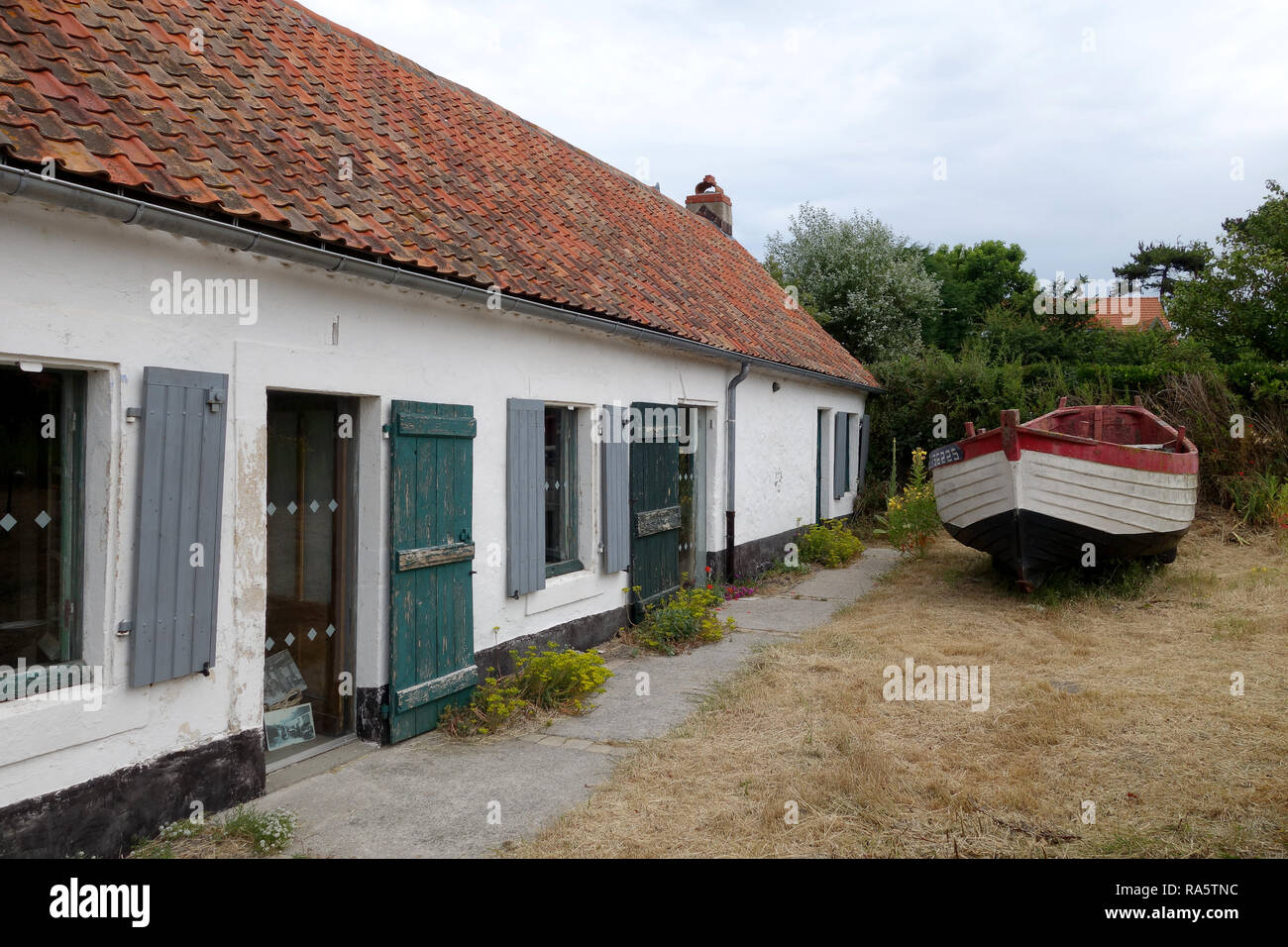 Wissant northern France The Fisherman's House - Stock Image