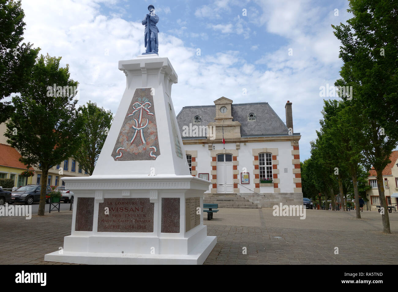 Wissant northern France war memorial - Stock Image
