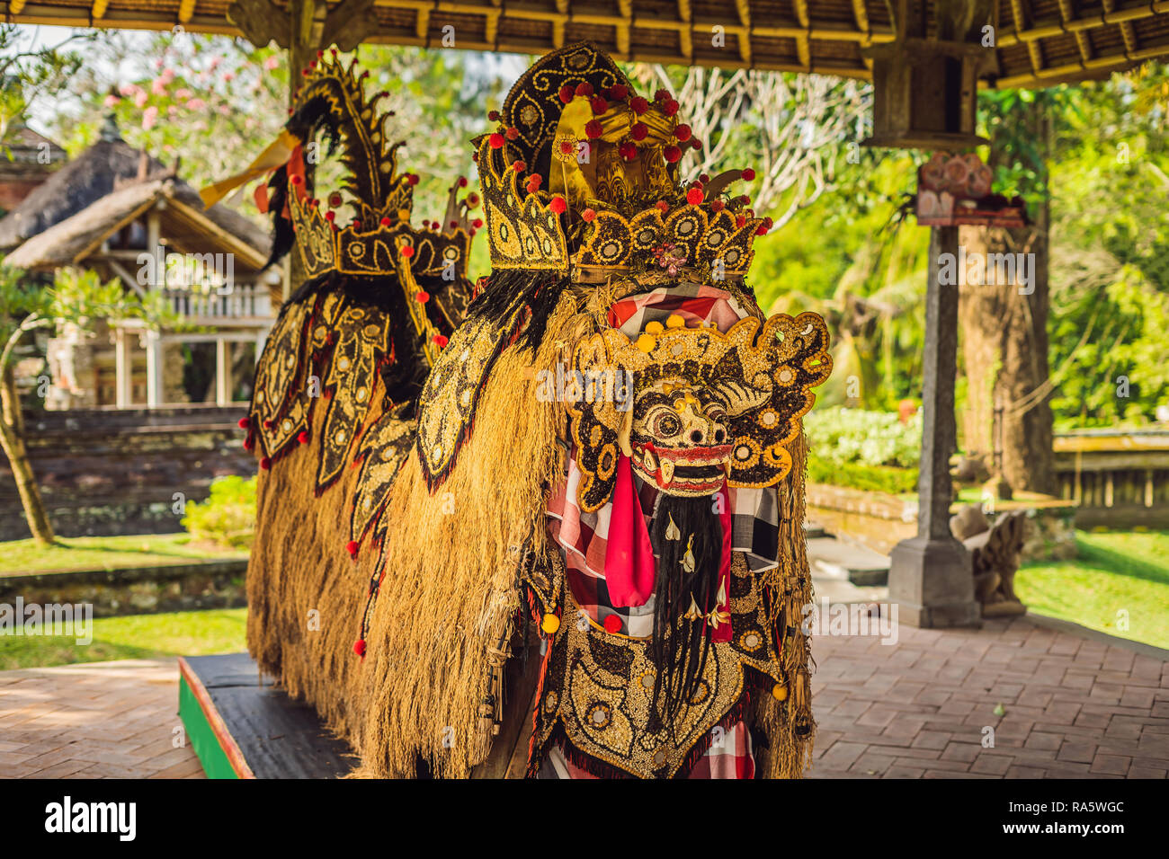 A statue of grains, a symbol of fertility Bali Indonesia - Stock Image