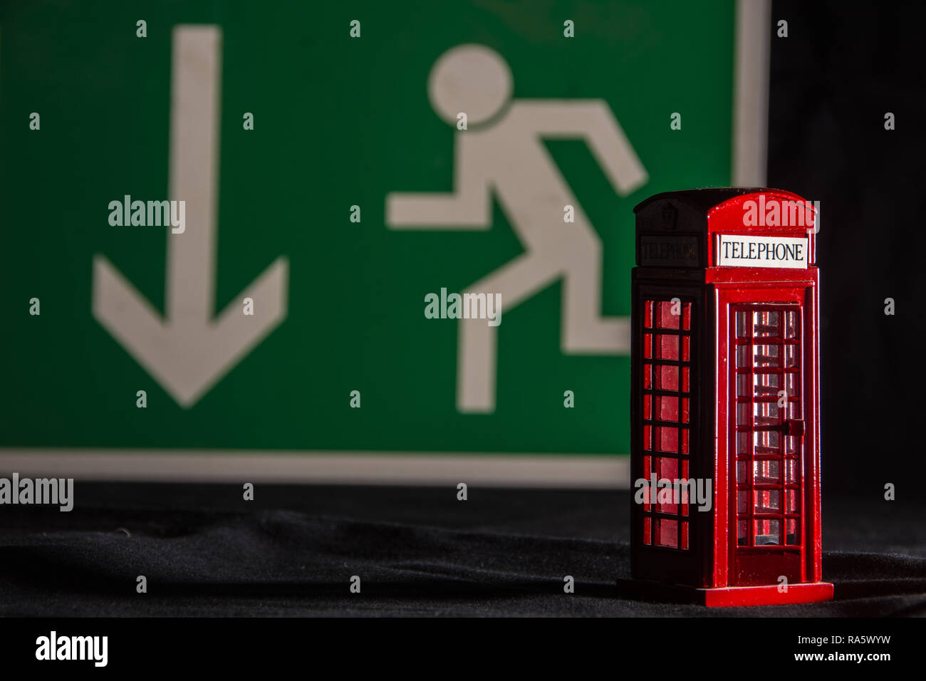 brexit concept - telephone kiosk - Stock Image