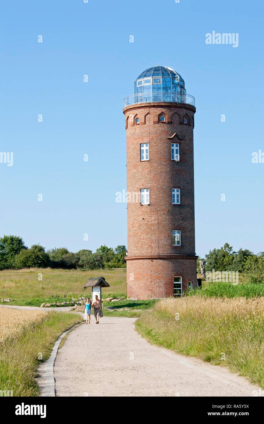 Marine navigation tower, Cape Arkona, Ruegen Island, Mecklenburg-Western Pomerania - Stock Image