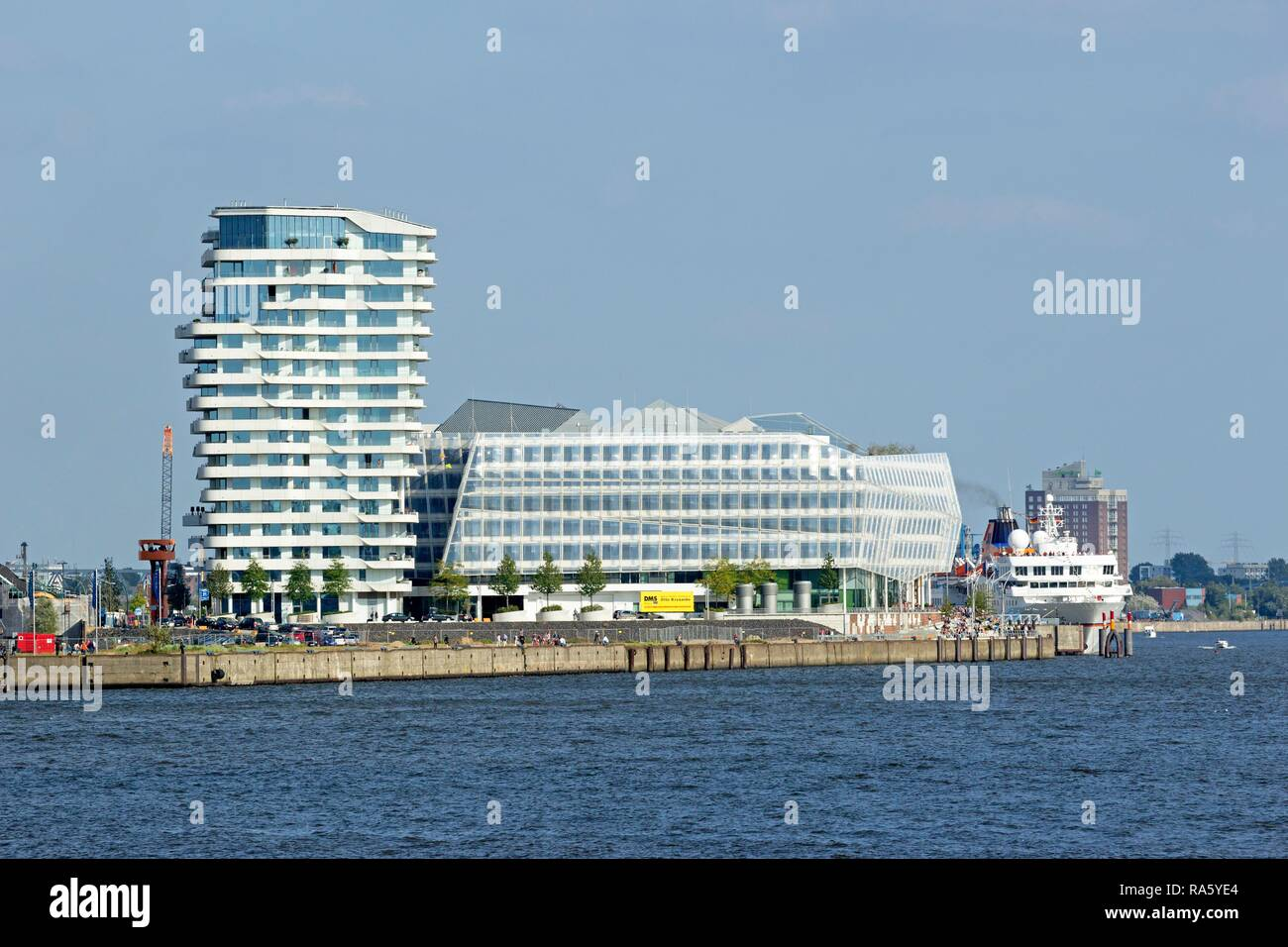 Marco Polo Tower and Unilever House, Hamburg - Stock Image