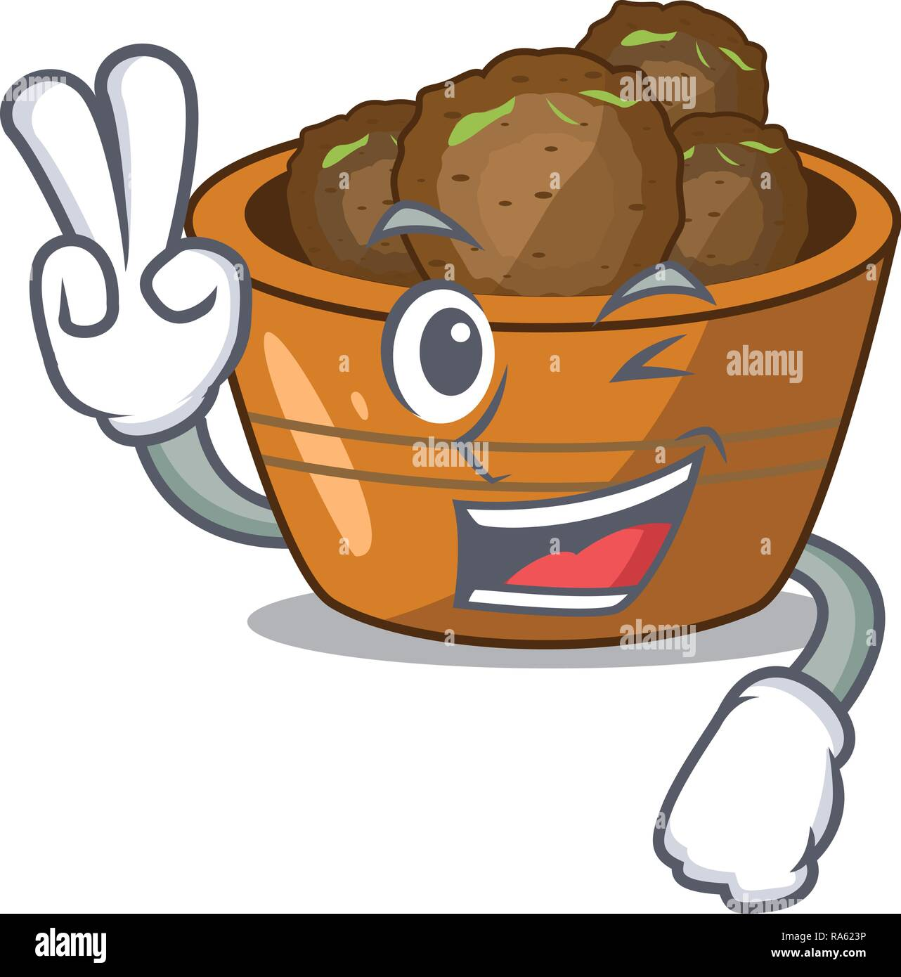 Two finger gulab jamun on the character table - Stock Vector