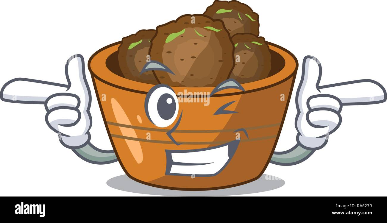 Wink gulab jamun on the character table - Stock Vector