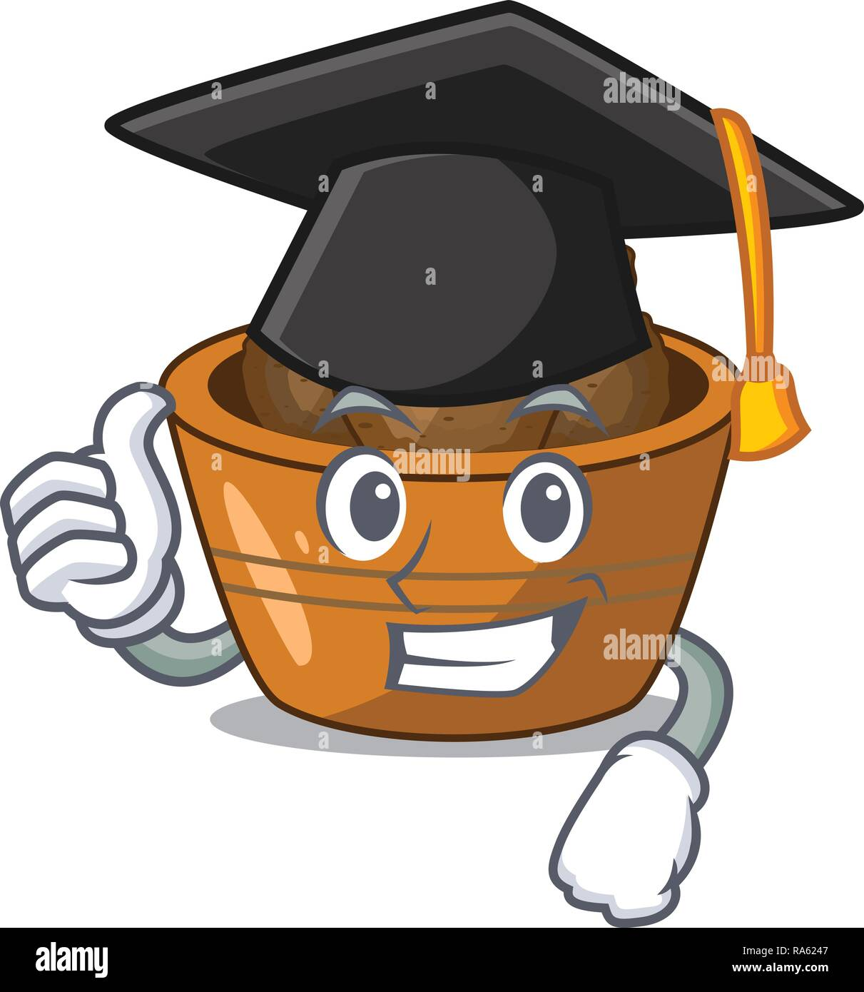 Graduation gulab jamun on the character table - Stock Vector