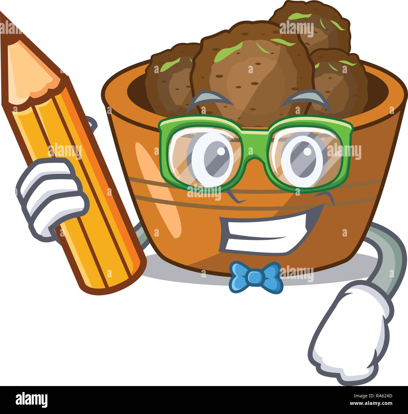 Student gulab jamun on the character table - Stock Vector