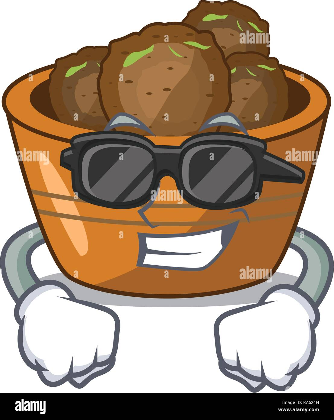 super coolgulab jamun on the character table - Stock Vector
