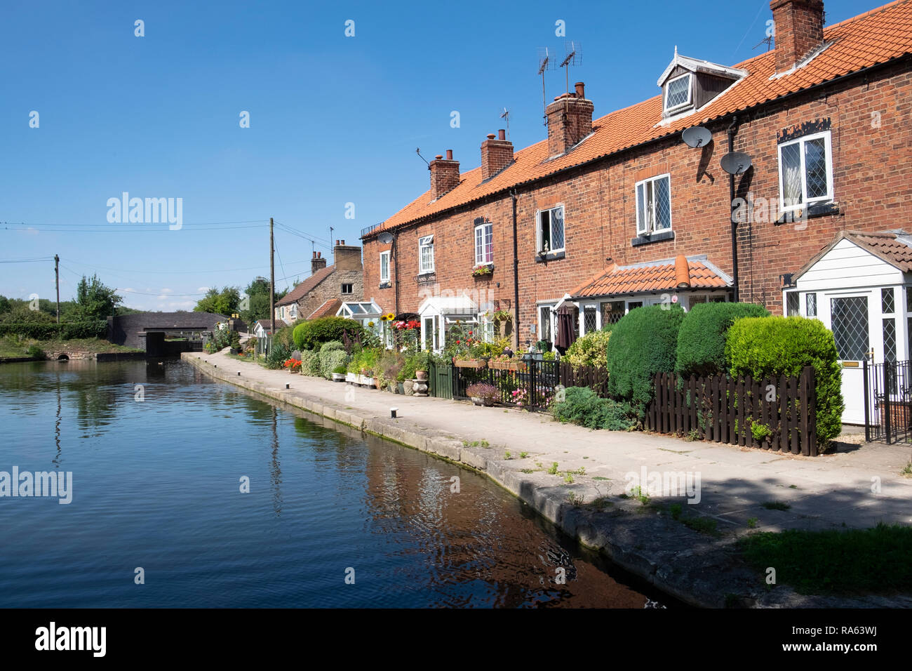 Turnerwood on the Chesterfield Canal in Nottinghamshire - Stock Image
