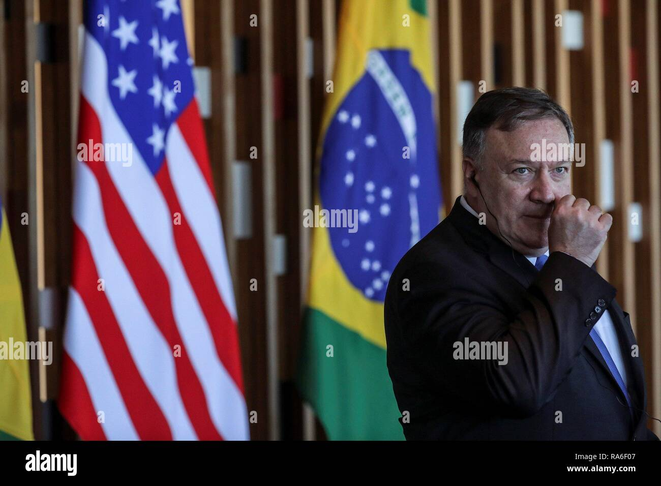 Brasilia, Brazil  02nd Jan, 2019  US Secretary of State, Mike Pompeo