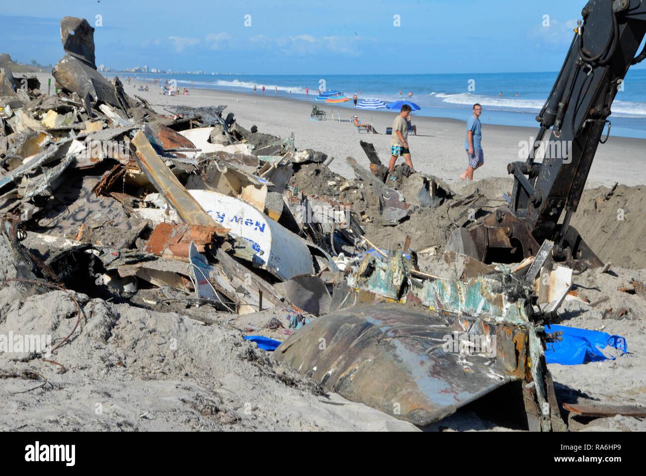 Melbourne Beach, Florida  USA  2nd Jan 2019  Abandoned 45