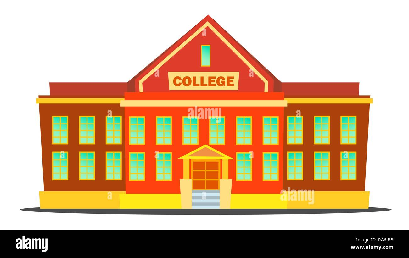 Brown Teaching Building, Building Clipart, Vector Png ...  |Brown University Building Cartoon