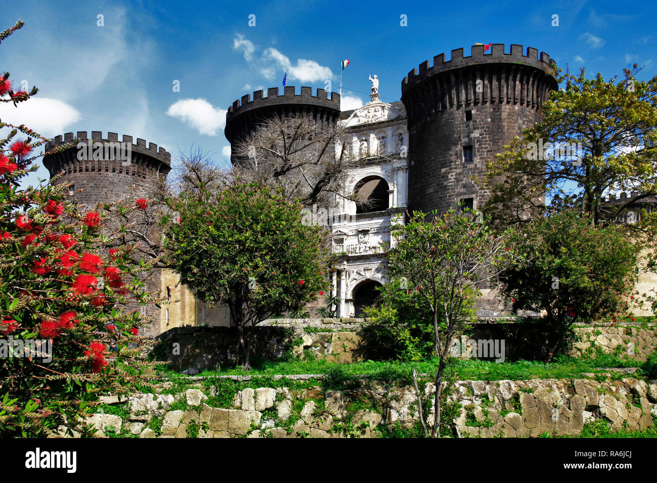 Castel Nuovo, Neapel, Kampanien, Italien - Stock Image