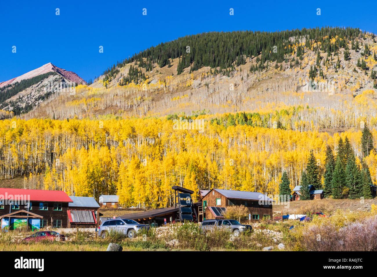 Rocky Mountains Biological Laboratory in Colorado on Gothic Road (site of old Gothic Ghost town also) - Stock Image