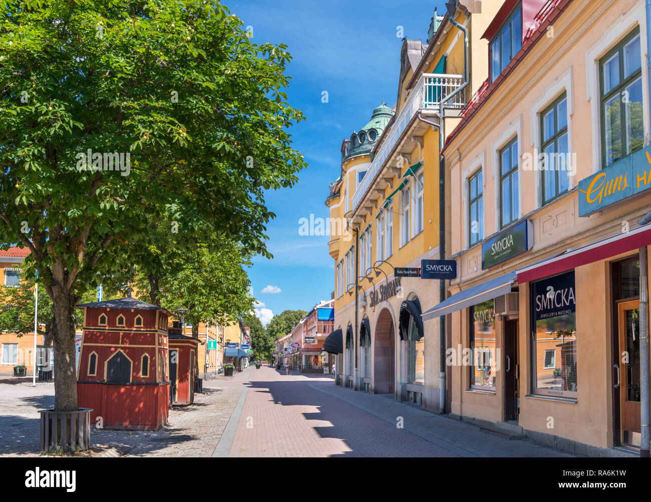 The Main Square (Stora Torget), Sala, Västmanland, Sweden - Stock Image