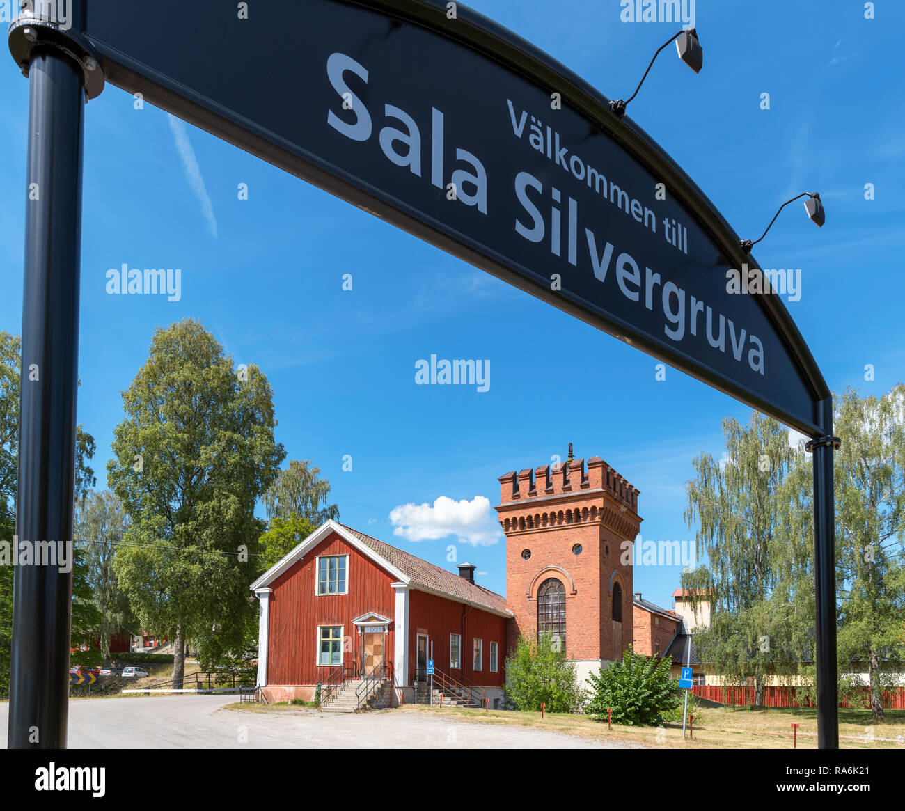 Entrance to the Sala Silver Mine (Sala silvergruva), an open air museum in Sala, Västmanland, Sweden - Stock Image