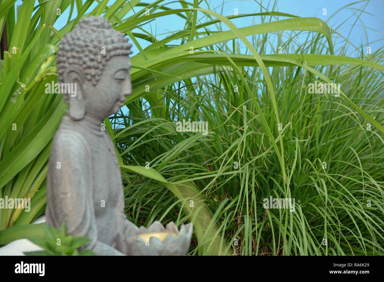 Buddha, Hintergrund Stock Photo