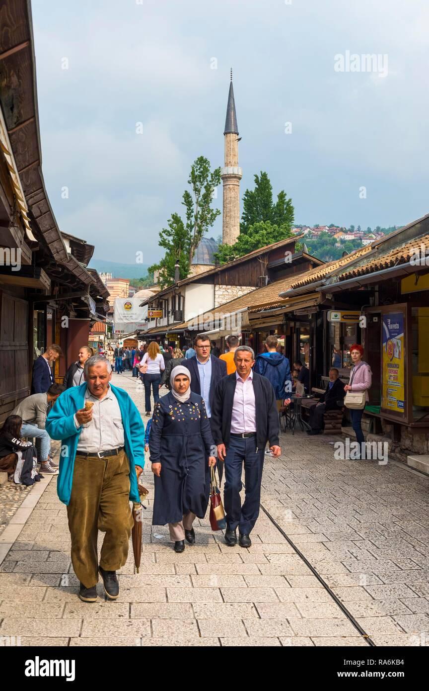 Bascarsija old bazar, Sarajevo, Bosnia and Herzegovina - Stock Image