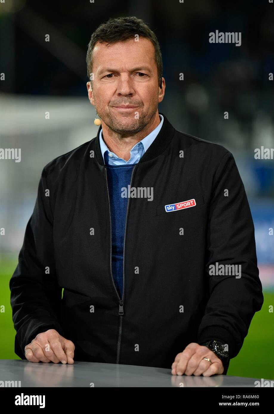 Sky Sport TV expert Lothar Matthäus, Wirsol Rhein-Neckar-Arena, Sinsheim, Baden-Württemberg, Germany Stock Photo
