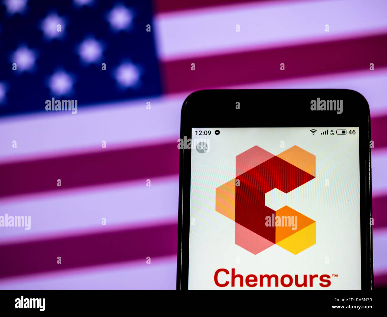 The Chemours Company Chemicals company logo seen displayed