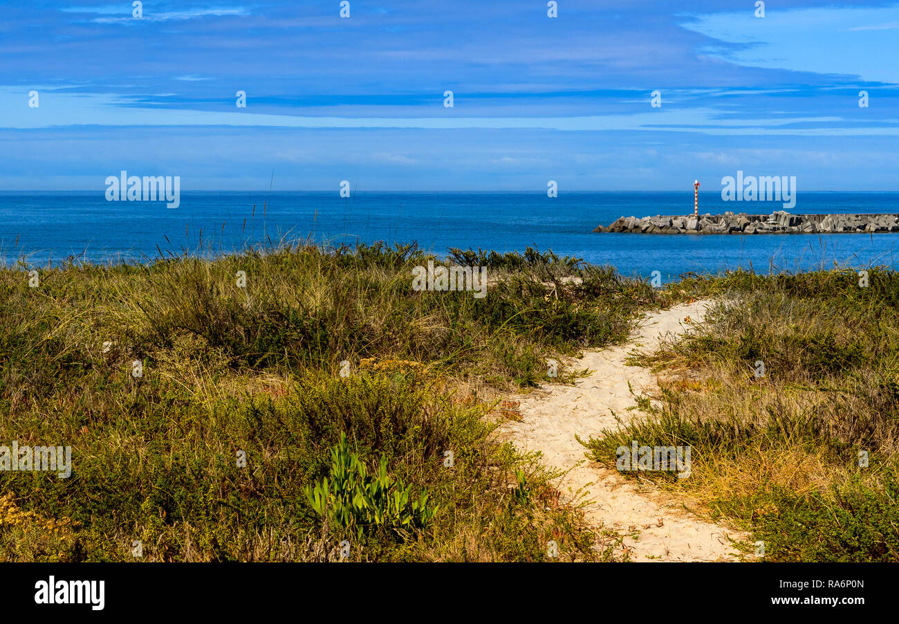 Vila Praia de Ancora, Portugal - September 17, 2017 : Way to the sea Vila Praia de Ancora, Portugal - Stock Image