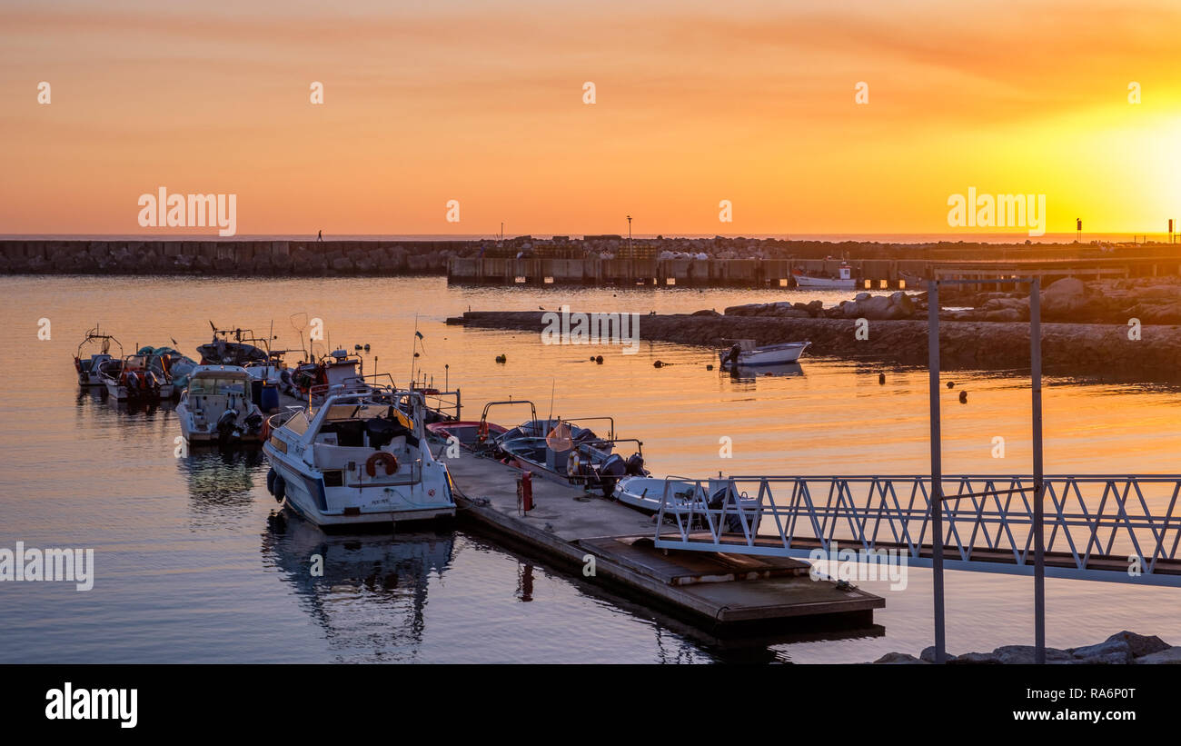 Vila Praia de Ancora, Portugal - May 04, 2018 : Pier and the city, Vila Praia de Ancora, Portugal - Stock Image