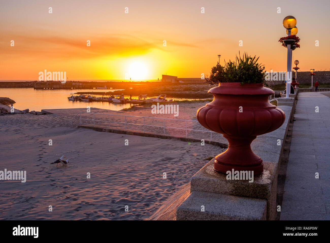 Vila Praia de Ancora, Portugal - May 04, 2018 : sunset, Vila Praia de Ancora, Portugal - Stock Image