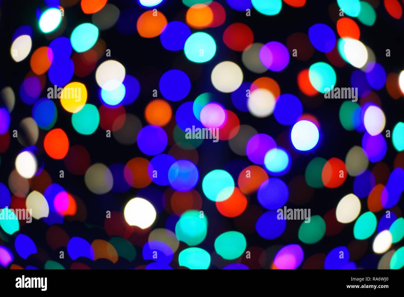 differently 2cfd6 ff8b3 Light circles, bokeh, rainbow, christmas lights, dark ...