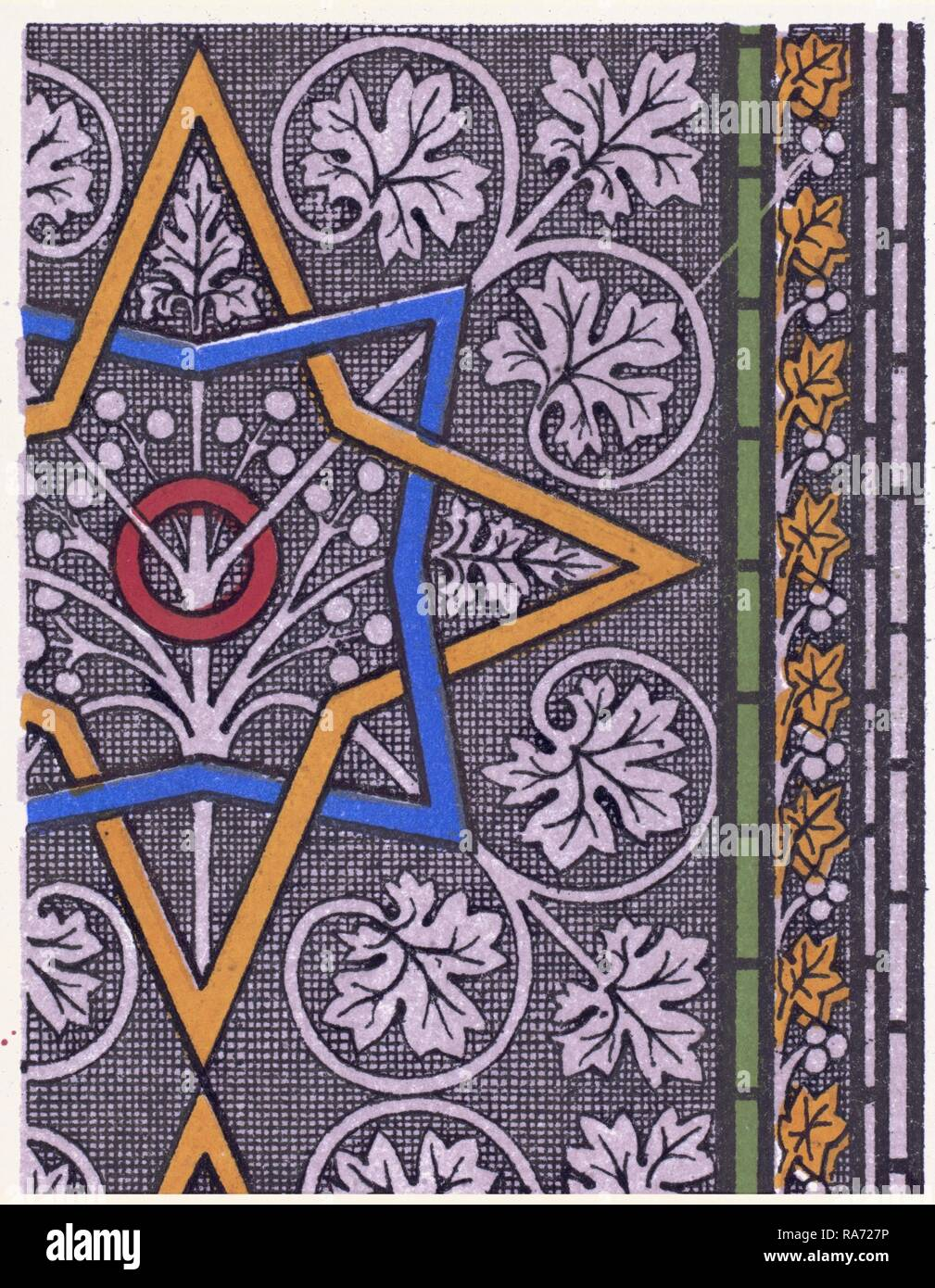 Mediæval ornament. Reimagined by Gibon. Classic art with a modern twist reimagined - Stock Image