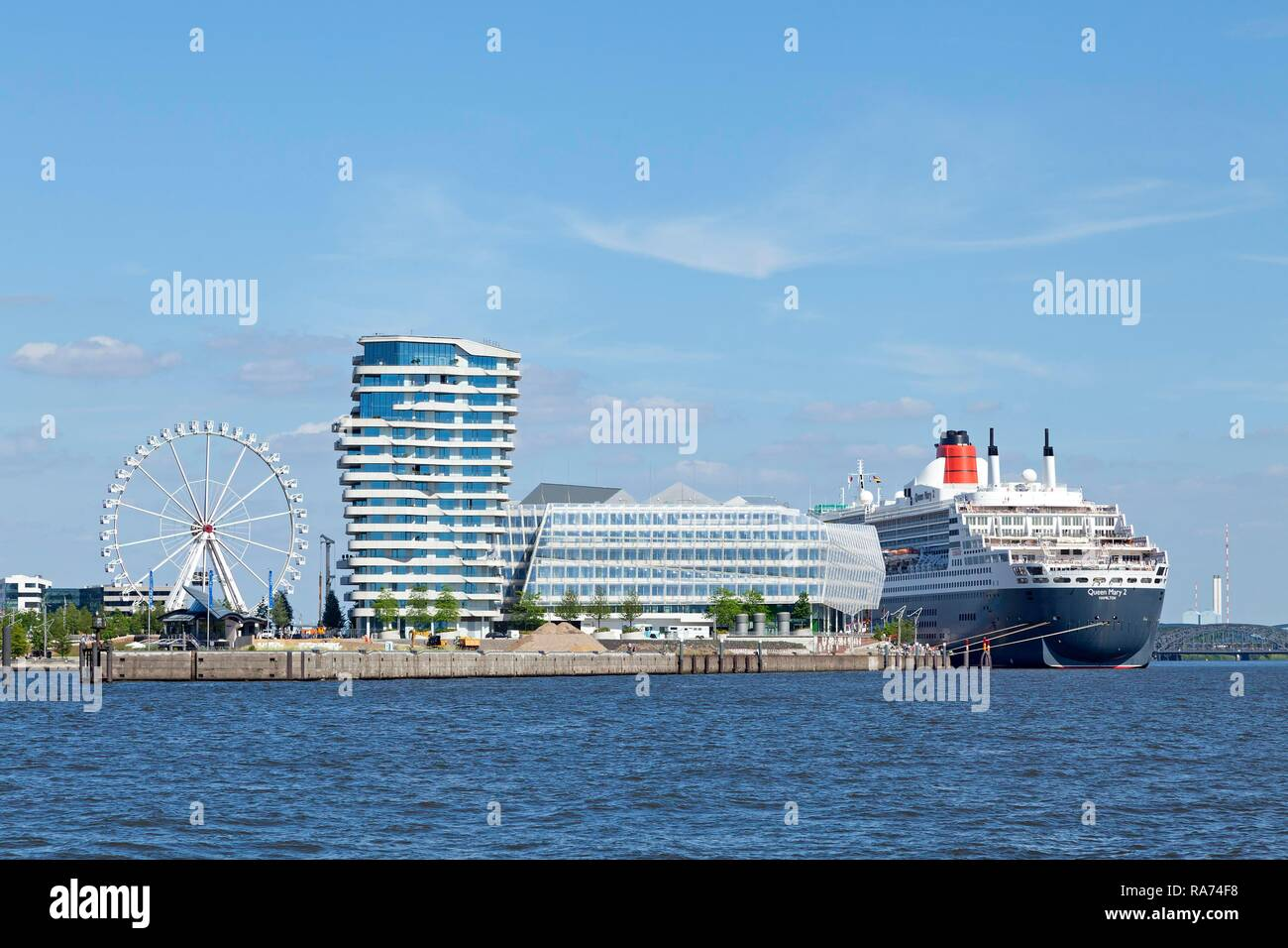 Marco Polo Tower, Unilever House, Queen Mary 2, HafenCity, Hamburg, Germany Stock Photo