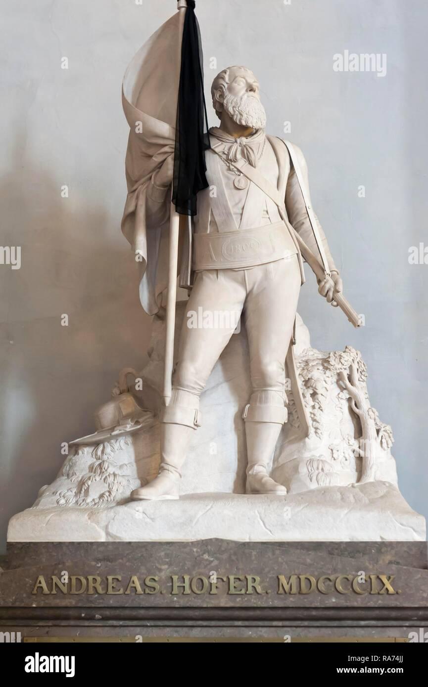 Tyrolean freedom fighter, Tomb of Andreas Hofer, Court Church, Schwarzmander Church, Innsbruck, Tyrol, Austria - Stock Image