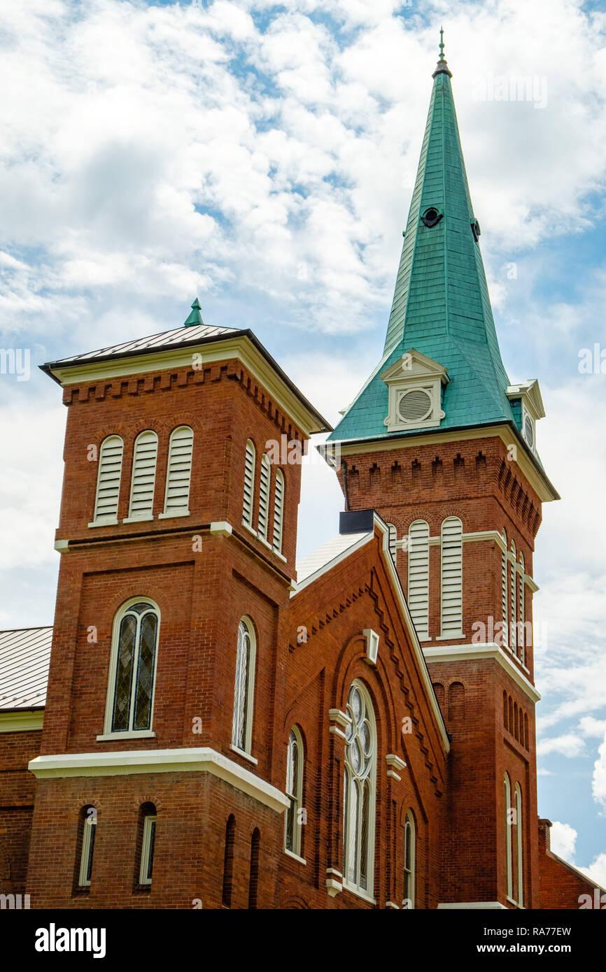 First Presbyterian Church, 100 East Frederick Street, Staunton, Virginia - Stock Image