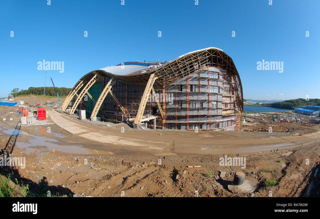 Construction of the biggest oceanarium in the CIS, Vladivostok, Russky Island, Primorsky Krai, Russian Federation, Eurasia - Stock Image