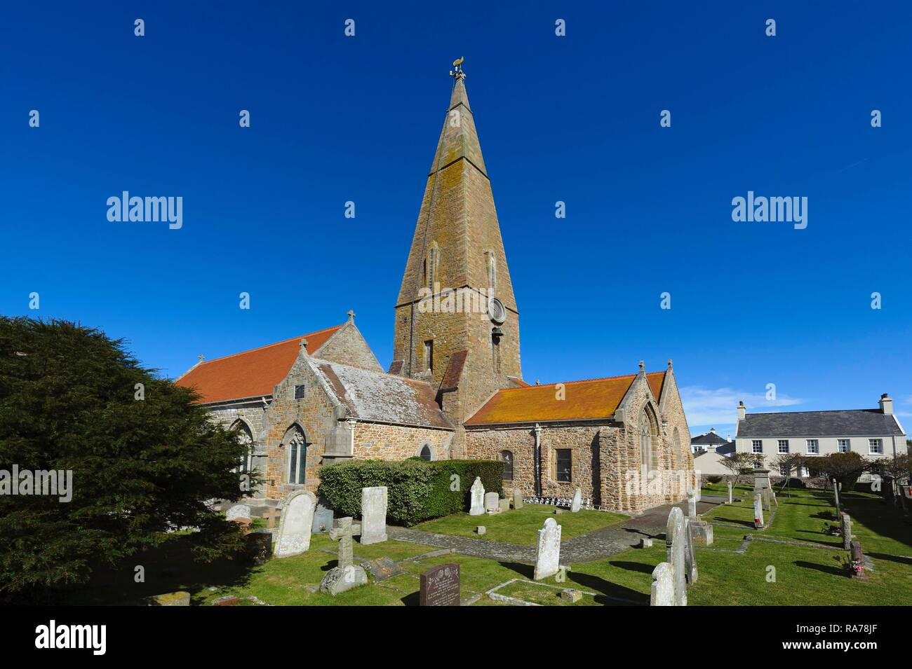 Church of St. Peter, island of Jersey, Channel Islands Stock Photo ...