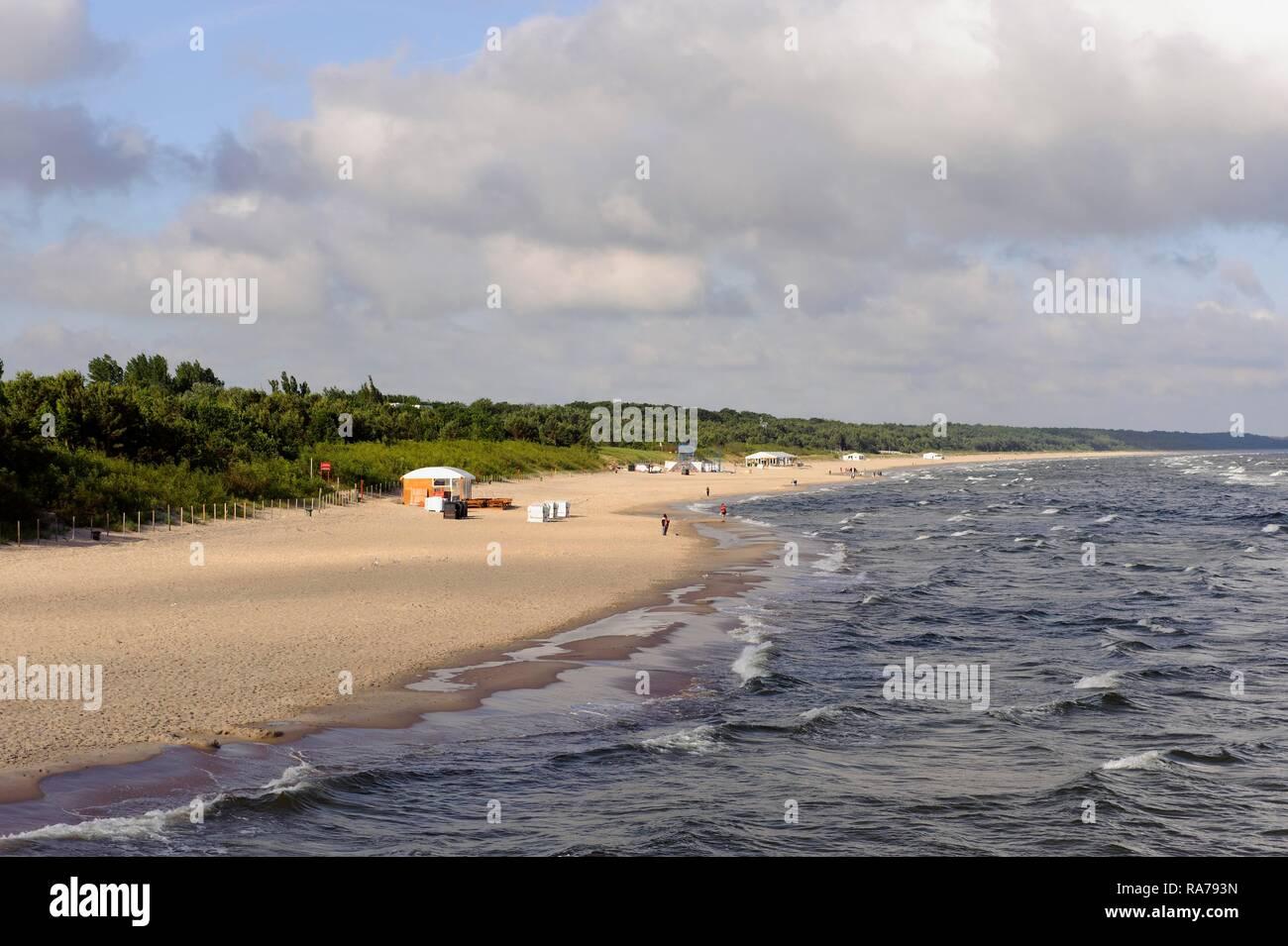 Beach, Miedzyzdroje, Misdroy, West Pomeranian Voivodeship, Poland Stock Photo