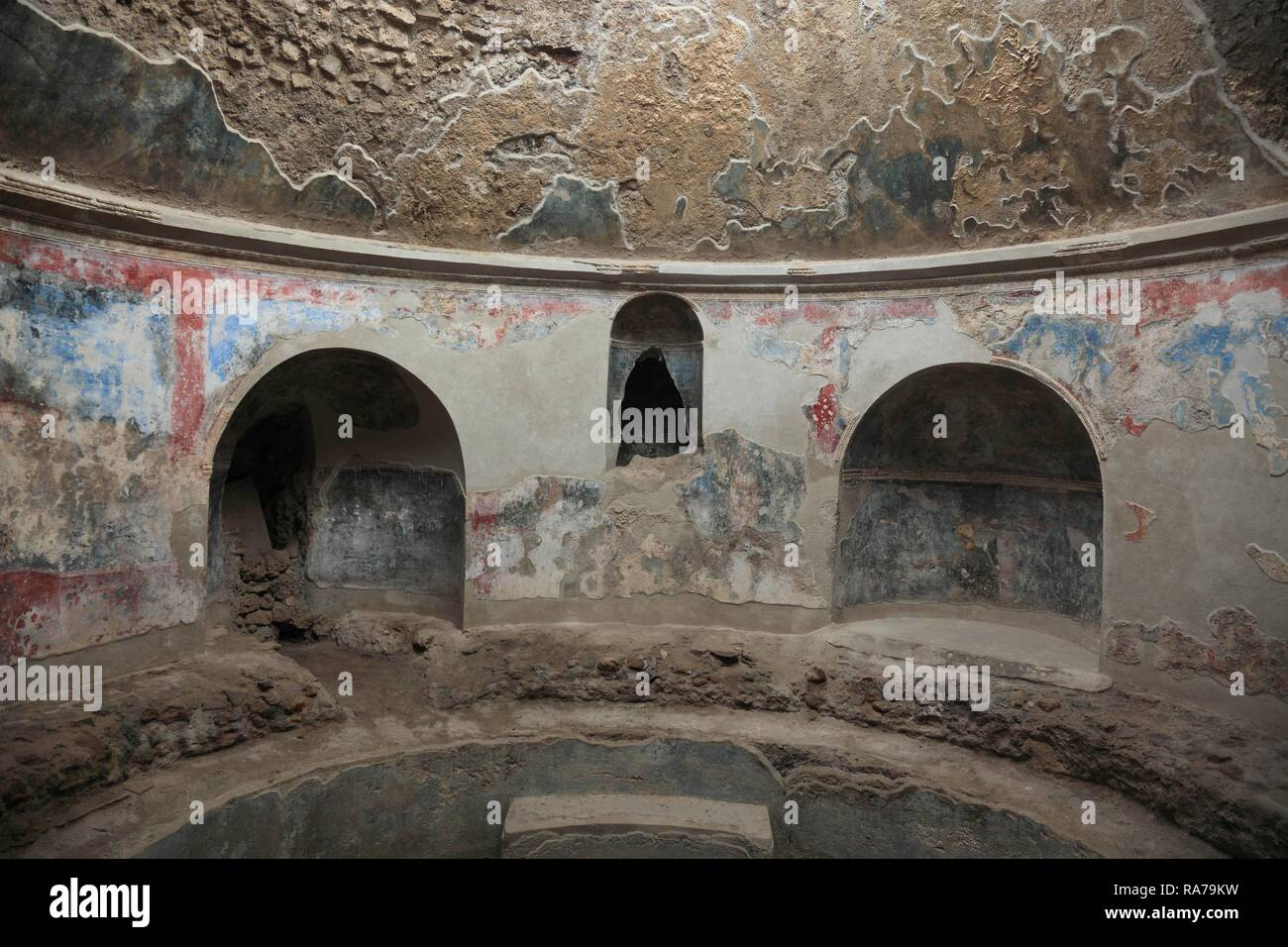 Stabiane spas, detail, Pompeii, Campania, Italy, Europe - Stock Image