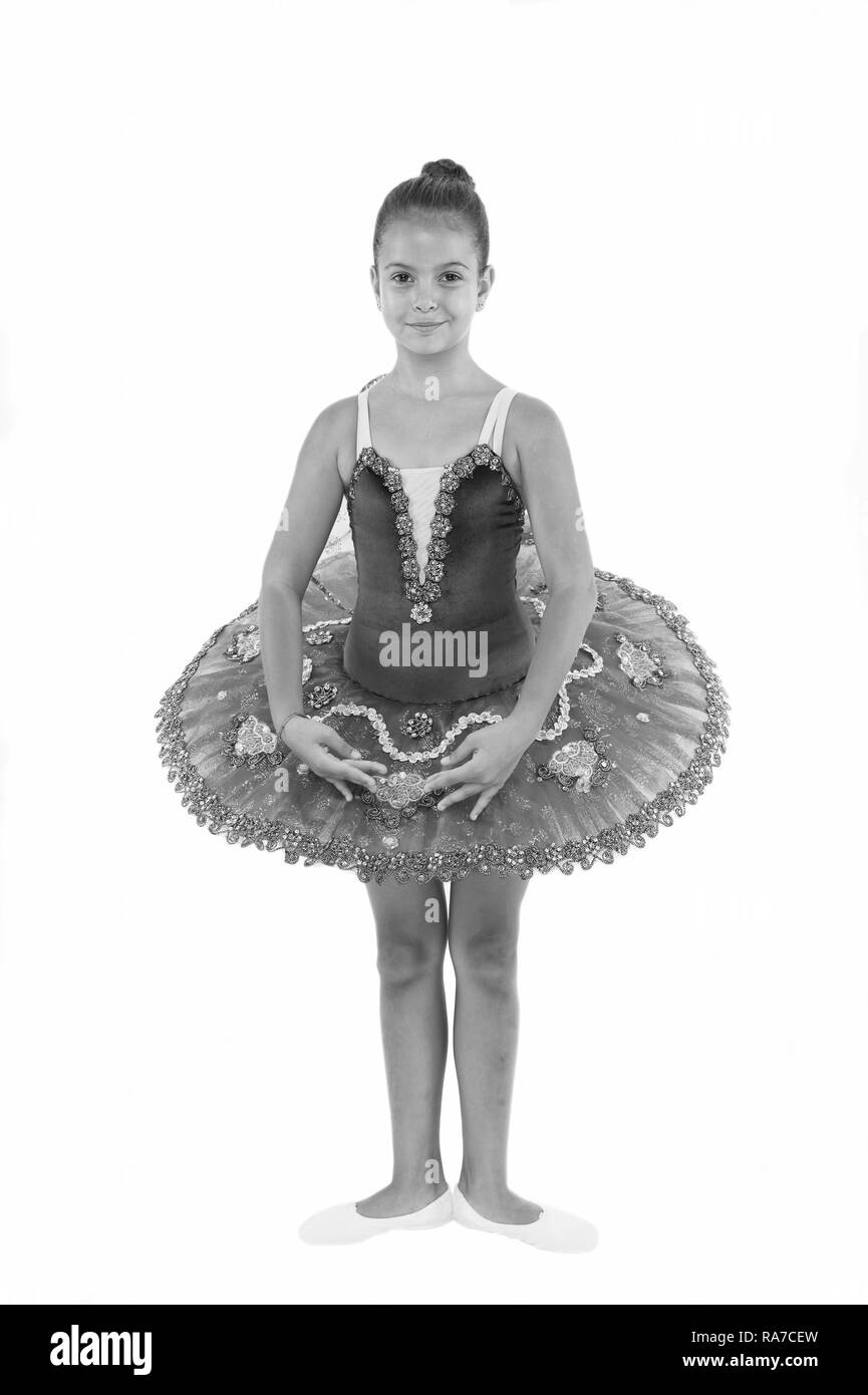 4ee9d33d6 Little ballerina girl in blue tutu. Adorable child in classical ...