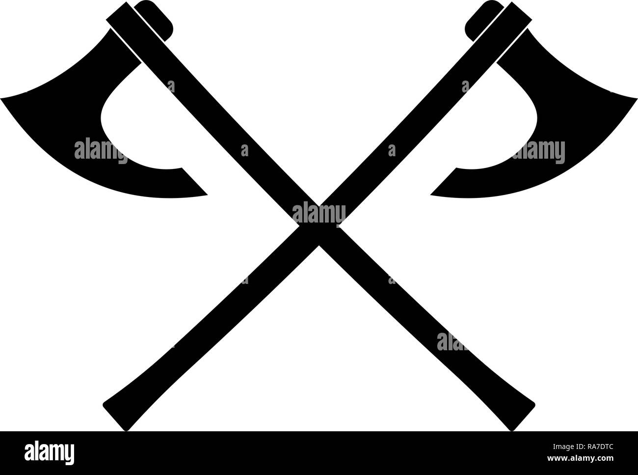68ed24eca06eb Two battle axes vikings icon black color vector I flat style simple image -  Stock Image