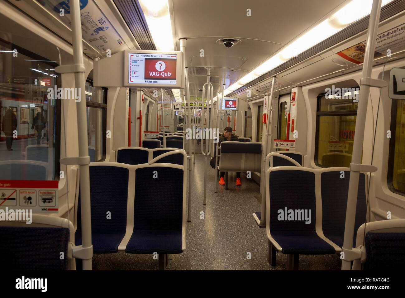 U Bahn Metro System Nuremberg Bavaria Germany Stock Photo