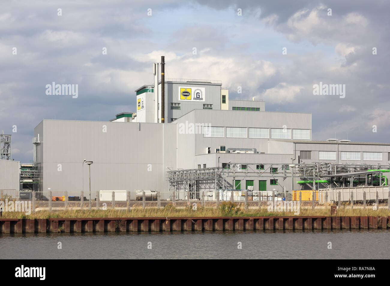 Factory of cleaning agents in Genthin in Saxony-Anhalt state in Germany - Stock Image