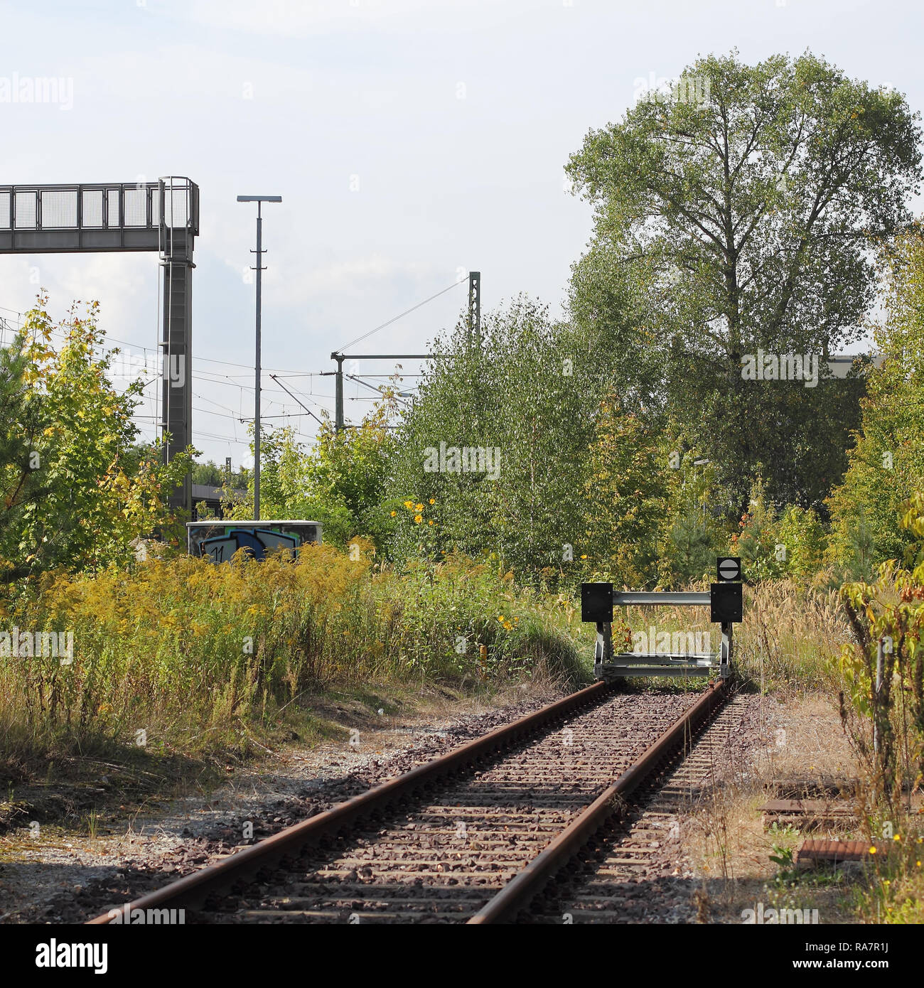 Decommissioned Dead-end tracks - Stock Image