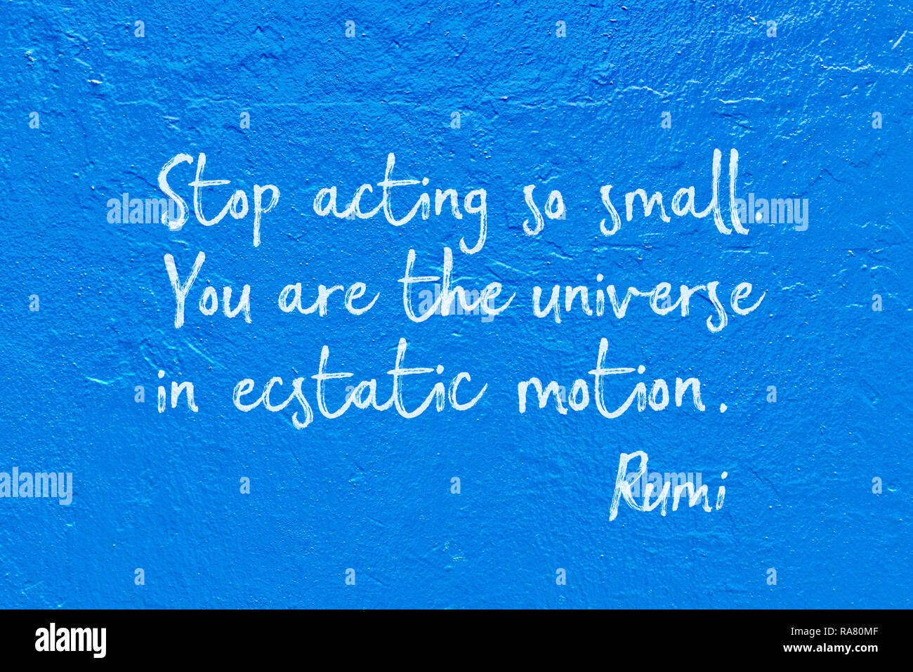 Stop Acting So Small You Are The Universe In Ecstatic Motion