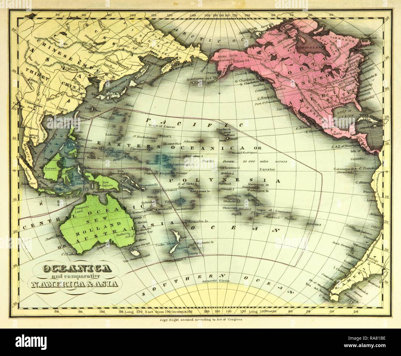Pacific Centred Map High Resolution Stock Photography And Images Alamy