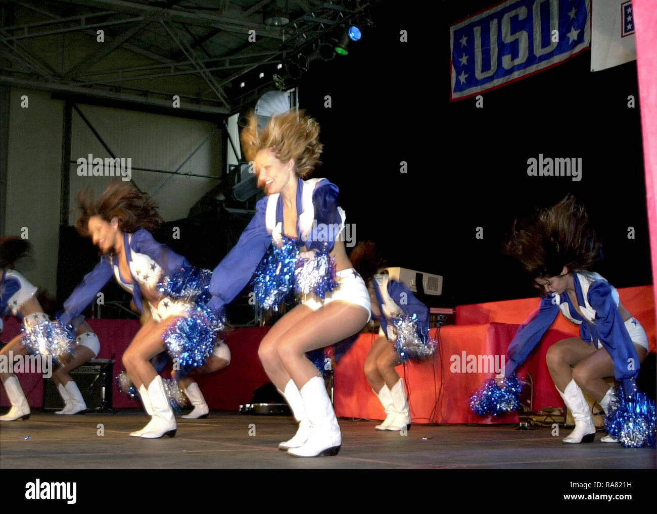 dd52828cf The Dallas Cowboys Cheerleaders perform during the Secretary of Defense  Holiday Tour 2000