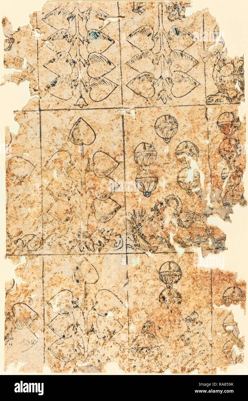 German 16th Century, Playing Card, woodcut. Reimagined by Gibon. Classic art with a modern twist reimagined - Stock Image