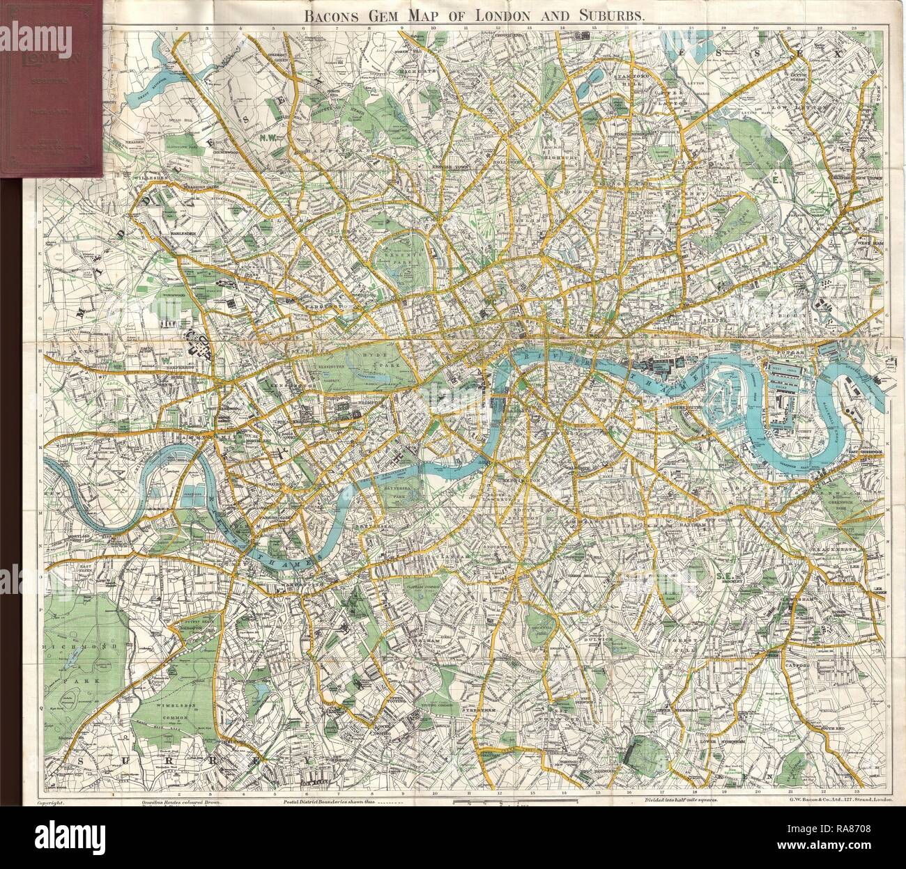 Map Of England 870.1900 Bacon Pocket Map Of London England Reimagined By Gibon