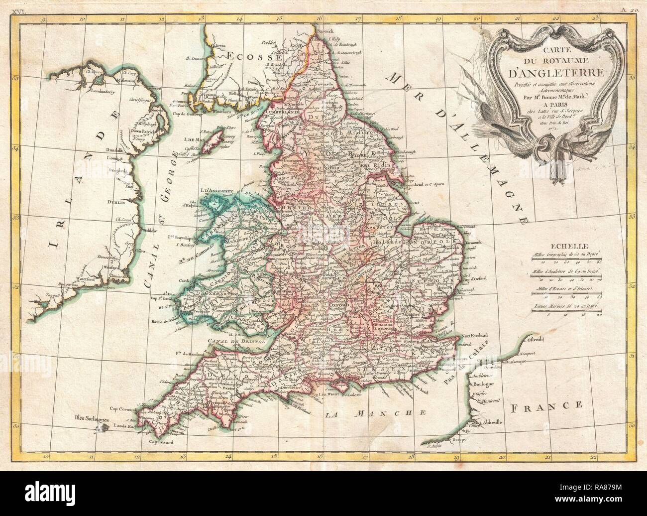 Wales England Map 18th Stock Photos Wales England Map 18th Stock