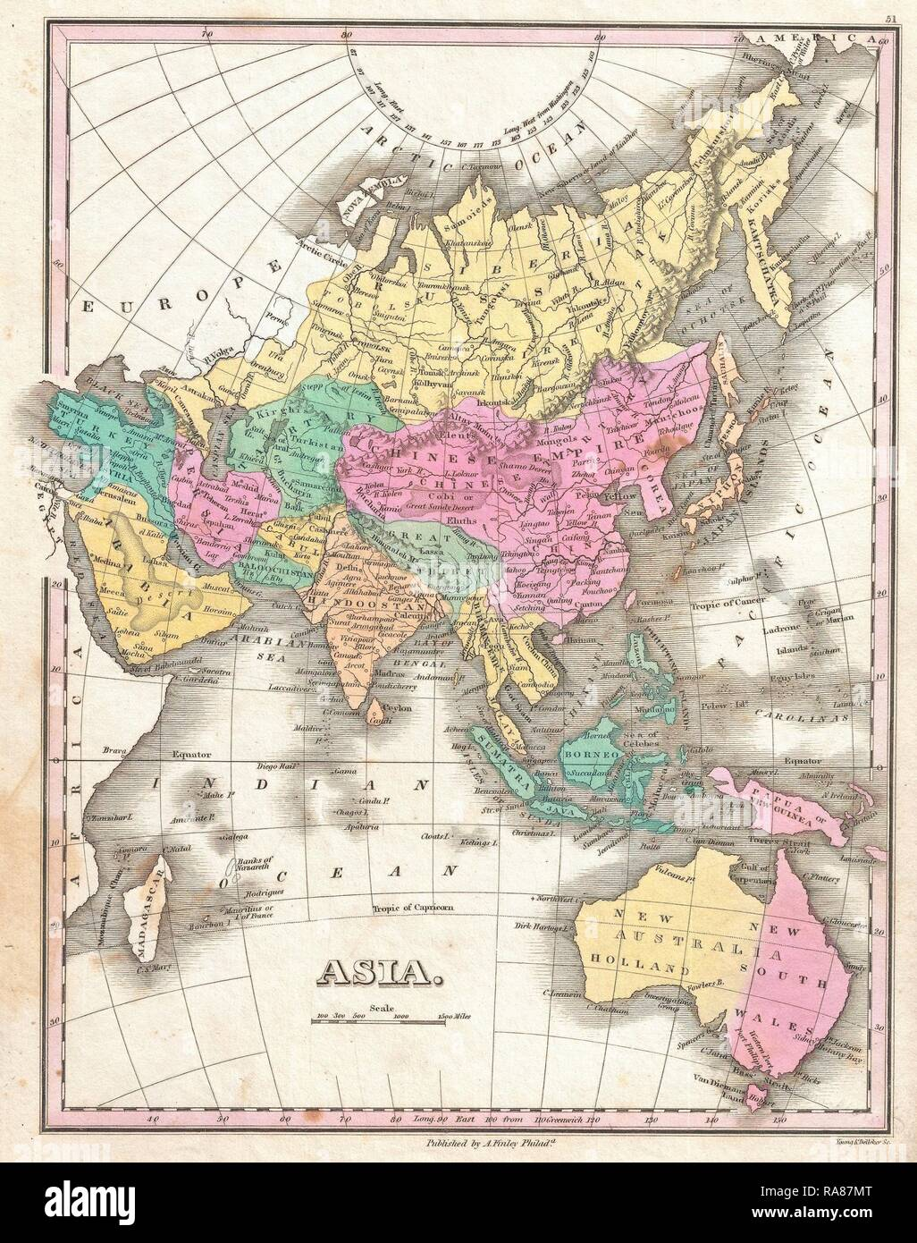 19th Century Map Asia Stock Photos & 19th Century Map Asia ... on europe map, iran map, voyage map, afrique map, portugal map, bangladesh map, nature map, africa map, religion map,