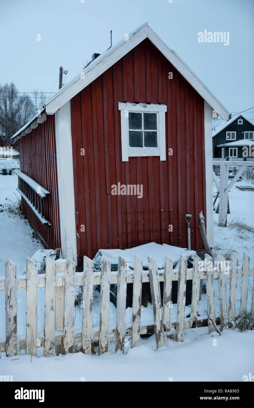 Garden hut, Kirkenes, Norway. Stock Photo