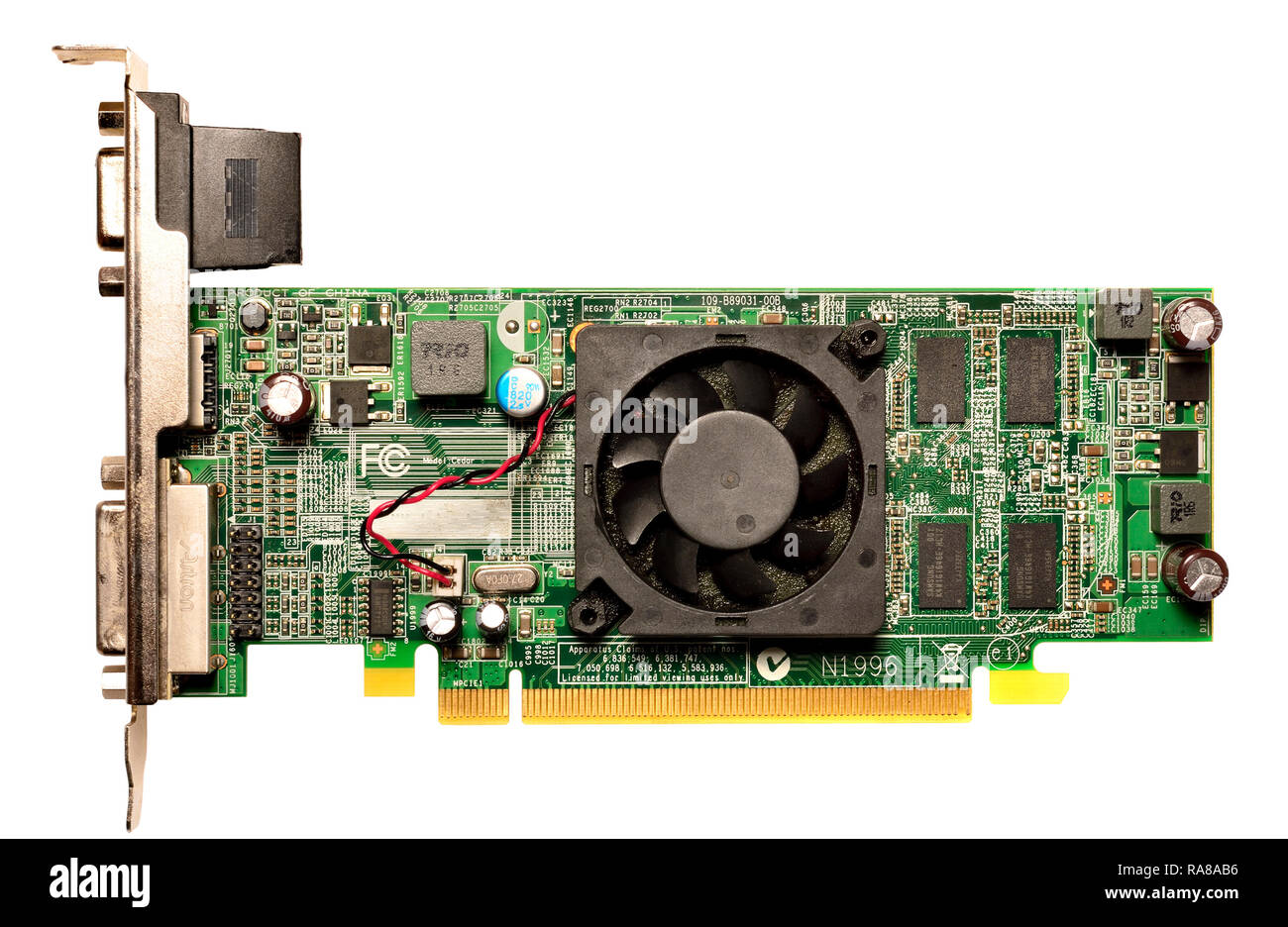 Computer graphics card - Stock Image