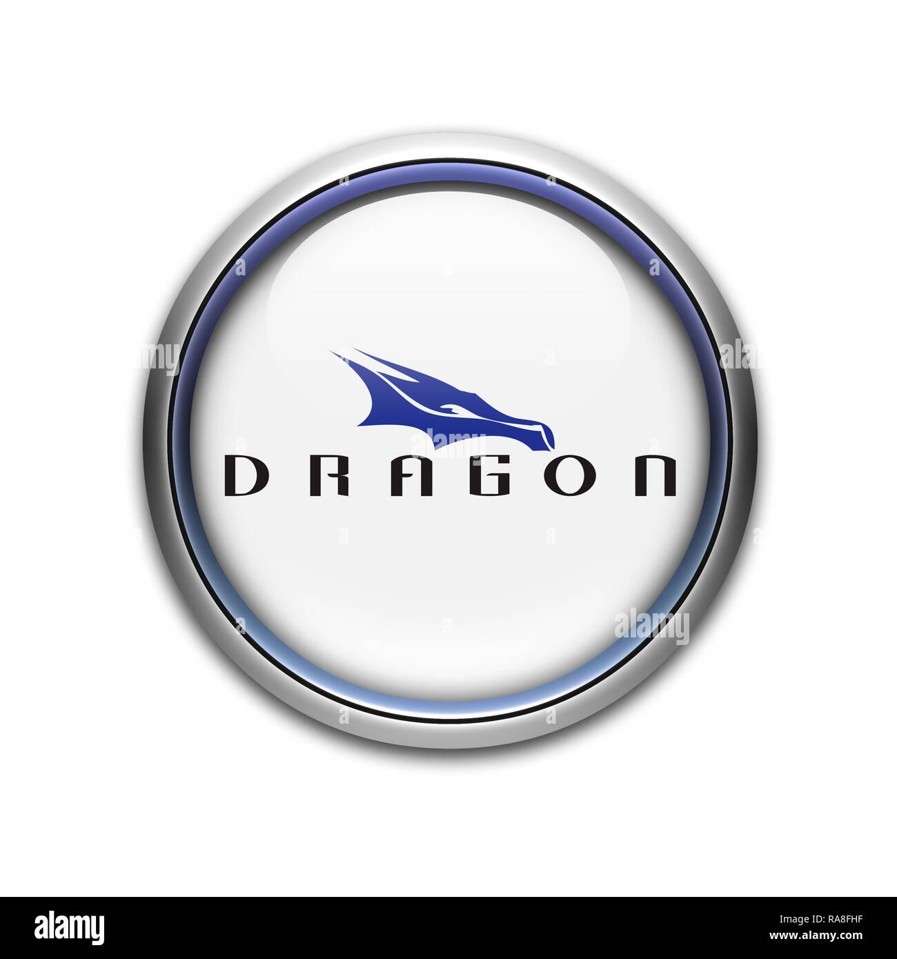 Dragon Spacex logo Stock Photo: 230069211 - Alamy